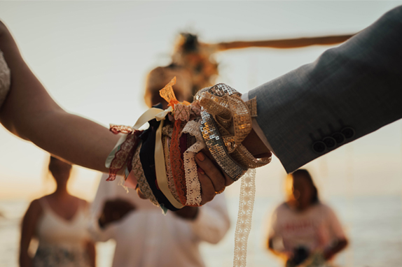 rituel ceremonie rubans horizon wedding